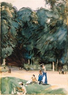 Near Versailles By John Singer Sargent