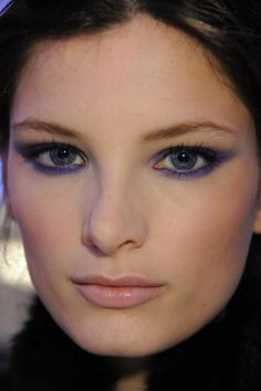 Models' looks using Lancome at Jason Wu fashion show during the Fall 2013 Mercedes Benz Fashion Week. Love the bold eye make up and everything else is neutral! Very beautiful!