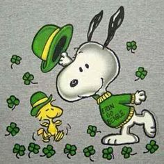 ♥  St. Patrick's Day Snoopy and Woodstock