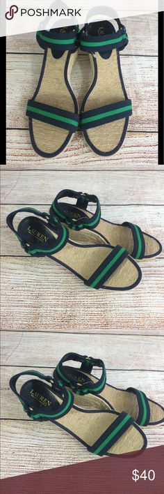 Lauren Ralph Lauren wedge sandals 8 1/2 Great lightly used wedge sandals Lauren Ralph Lauren Shoes Wedges