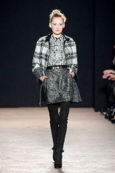 Aquilano.Rimondi - Plaid Runway Fashion Week Fall 2013 - Fall 2013 Fashion Trends - ELLE