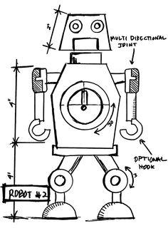 Robot blueprint google zoeken maker fun factory vbs 2017 tim holtz rubber stamp 2015 robot 2 sketch stampers anonymous p42633 malvernweather Gallery