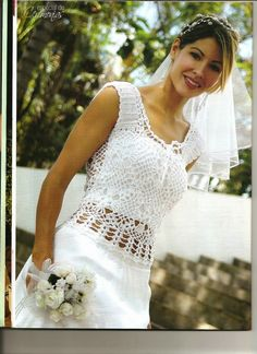 Inspirações de Croche com Any Lucy: CHECK THIS LINK FOR MORE BRIDAL DRESSES FROM A MAGAZINE WITH CHARTS. liveinternet.ru/users/4700874/post208908182/    copy and paste this link for view of web page.