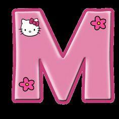 Alfabeto de Hello Kitty con letras grandes.