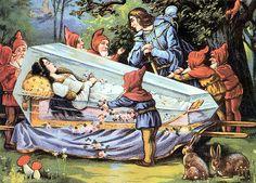 snow white in glass coffin German Fairy Tales, Grimm Fairy Tales, Walt Disney, Disney Magic, Evil Disney, Snow White Art, Snow White Prince, Pinturas Disney, Fairytale Art