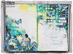 Marta Lapkowska: October colour challenge at Lindy's Stamp Gang