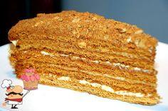 Вкуснейший медово-сметанный торт