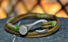 Men bracelet leather men bracelet Men's leather by FosforStore, $24.00