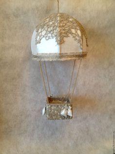 Купить воздушный шар - бежевый, лампа, люстра, светильник, воздушный шар, хб, лён