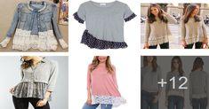 Aprende la manera de alargar una blusa o camiseta Men's Shirts, Men's, Design Patterns, Pattern Books, Dress Patterns, Hand Stitching, Couture