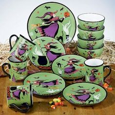 Susan+Winget+Pottery   ... Certified International Enchanted Halloween Collection by Susan Winget