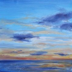 """Daily Paintworks - """"Another Sunset"""" - Original Fine Art for Sale - © Laura Buxo"""