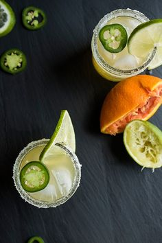 Jalapeño Margaritas glass