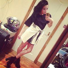 Stephanie Davis, Cheer Skirts, Leather Skirt, Fashion, Leather Skirts, Moda, La Mode, Fasion, Fashion Models