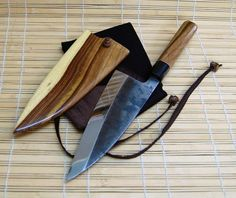 "Now that is a beautiful blade. I just found this website - and I want one of these... Looks like about a 6"" chef's knife."