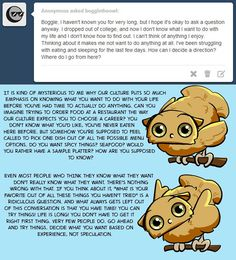 """""""On Life Directions"""" -- from Boggle the Owl 