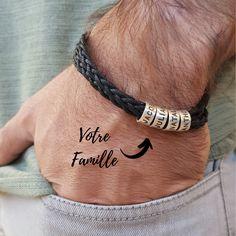 Bracelet personnalisé pour Homme avec noms gravés