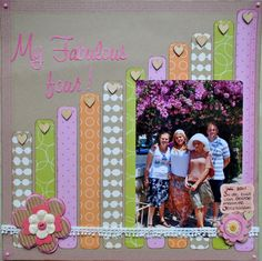 Scrapbook Layout - Great use for paper scraps Kids Scrapbook, Scrapbook Paper Crafts, Scrapbook Cards, Simple Scrapbook Ideas, Picture Scrapbook, Scrapbook Layout Sketches, Scrapbook Designs, Simple Scrapbooking Layouts, Creative Memories