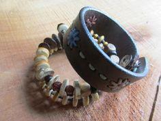 Wooden Memory Wire Bracelet & RePurposed by BonBonsandBaubles, $15.00