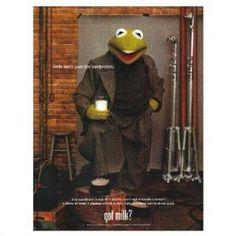 Kermit the frog got milk