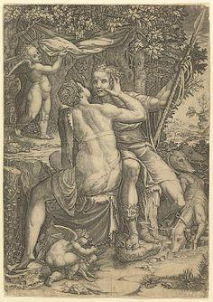 Venus and Adonis - Giorgio Ghisi (Italian, Mantua ca. 1520–1582 Mantua)