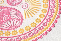 Indian-Design-Letterpress-Wedding-Invitations shown on @beautifulpaper