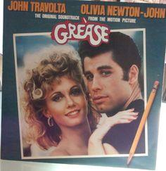 Grease, Movie Soundtrack, Vintage Record Album, Vinyl LP, Double Album, John Travolta, Olivia Newton-John, High School Dance Movie Classic by VintageCoolRecords on Etsy