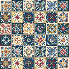 Purchase Gorgeous White Colorful Moroccan Portuguese Tiles Azulejo Ornaments Pattern Fills Wall Art Hanging Tapestry inch from Hedda Stan on OpenSky. Turkish Tiles, Portuguese Tiles, Moroccan Tiles, Moroccan Decor, Moroccan Pattern, Moroccan Bedroom, Moroccan Interiors, Turkish Pattern, Hanging Tapestry