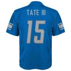 Boys 8-20 Detroit Lions Golden Tate Mid-Tier Jersey, Size: XL 18-20, Blue Tate