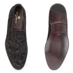 f2d3329c890 Bruno Magli Picasso Mens Shoes Black Velvet Calfskin Loafers (BM1038)