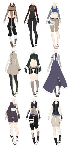 Naruto Outfit Adoptables 2 [CLOSED] by xNoakix3.deviantart.com on @DeviantArt