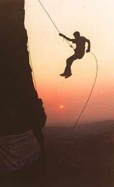Rappelling...Check!    I didn't exactly look like this but it was a 90 foot cliff.