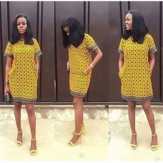 Simple And Unique Ankara Short Gown Styles You Need Rock - DeZango Fashion Zone African Print Dresses, African Fashion Dresses, African Dress, African Prints, Dress Fashion, Fashion Outfits, Ankara Short Gown Styles, Short Gowns, African American Fashion