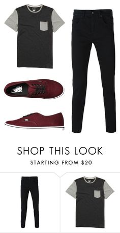 """""""hola"""" by tumblr-outfits12 ❤ liked on Polyvore featuring Billabong, Vans, men's fashion and menswear"""