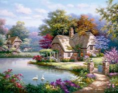 Cottage by the river.