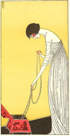 Illustration by Lucien Vogel, c 1919,   Tecla Jewellers .