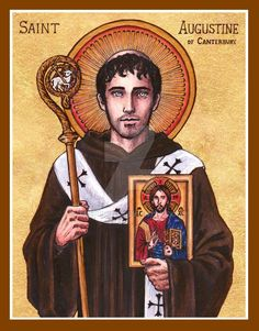 St. Augustine of Canterbury icon by Theophilia on DeviantArt