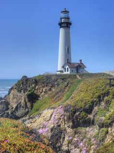Pigeon Point Lighthouse in California. Photo by Jill/Blue Moonbeam Studio.