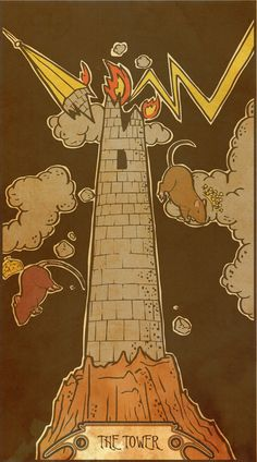 Muroidea Rat Tarot- The Tower Art Print