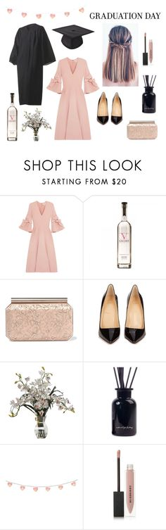 """Congrats, Grad: Graduation Day Style; Black Pink"" by hermoinegranger on Polyvore featuring Roksanda, Oscar de la Renta, Christian Louboutin and Burberry"