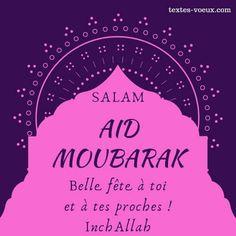 Belle carte Saha Aidkoum à poster sur Instagram Message Aid, Eid Moubarak, Messages, Ramadan, Allah, Religion, Sayings, Cards, Muslim