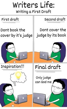 Writing a First Draft.. #Writerslife #WritingCommunity #writing #draft #amwriting #writers #authors Writing Memes, First Draft, Secret Obsession, Writers, Authors, The Book, Learning, Funny, Cover