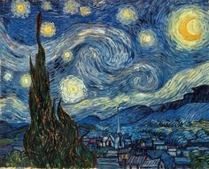 Print of VAN GOGH: STARRY NIGHT. The Starry Night. Oil on canvas by Vincent Van Gogh, 1889