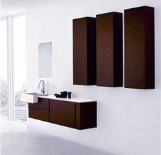 "Soho Modern Bathroom Vanity Set 55.1"""