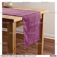 Chemin de table de 35,5 cm x 183 cm Leopard Chemin De Table Court