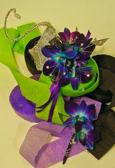 Purple orchid wrist corsage and boutonnière Corsage And Boutonniere, Prom Flowers, Prom 2014, Purple Orchids, Wrist Corsage, Corsages, Floral Arrangements, Bridal, Wire Wrap
