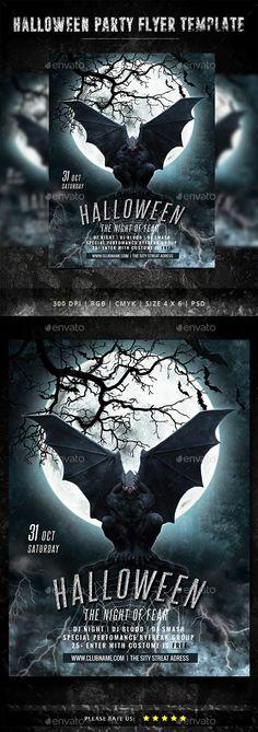 Halloween Flyer Template PSD #design Download: http://graphicriver.net/item/halloween-flyer/13045886?ref=ksioks