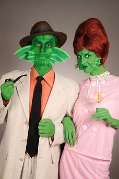diy for gills halloween costume #men #women #green #gill #german #tutorial #makeup
