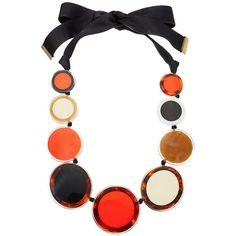 Kate Spade New York Connect The Dots Statement Necklace (Red Multi)... ($168) ❤ liked on Polyvore featuring jewelry, necklaces, red necklace, adjustable chain necklace, graduation necklace, chain statement necklace and chain pendants