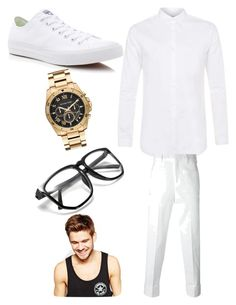 """Wedding Pt.2"" by lildae on Polyvore featuring Topman, Neil Barrett, Converse, Michael Kors, Toni&Guy, men's fashion and menswear"